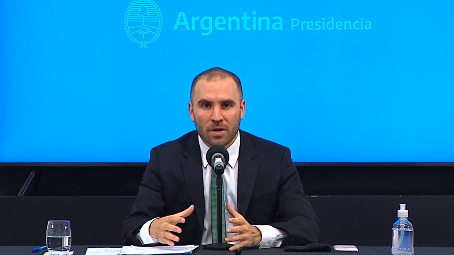 El ministro de Economía, Martín Guzmán (NA)