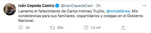 Trino de Iván Cepeda.