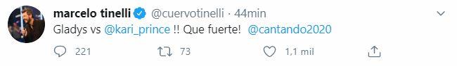 El tuit de Marcelo Tinelli al ver el ida y vuelta entre La Bomba y La Pincesita