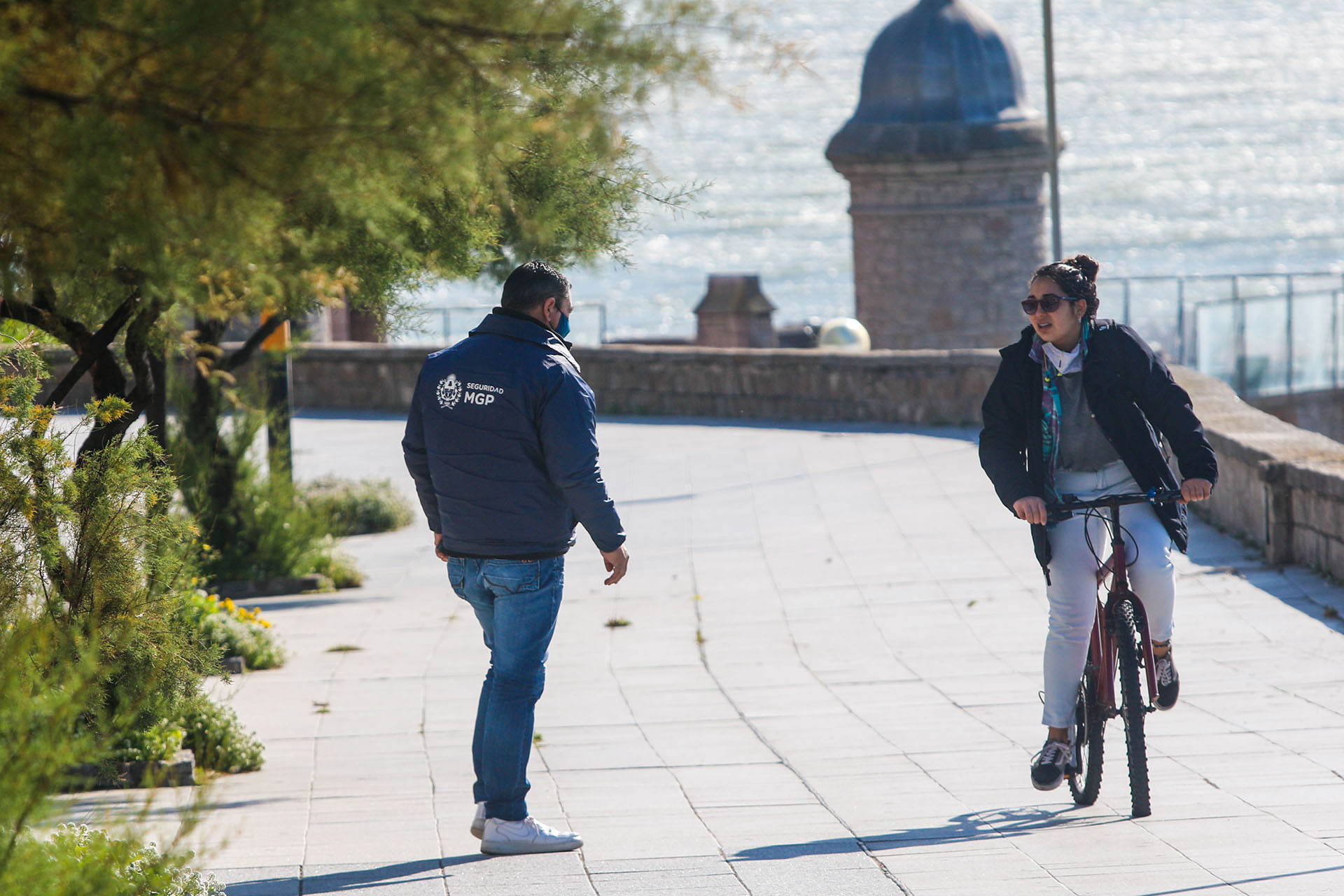 En todo momento hubo control en las calles de Mar del Plata, sobre todo en la zona costera (Christian Heit)