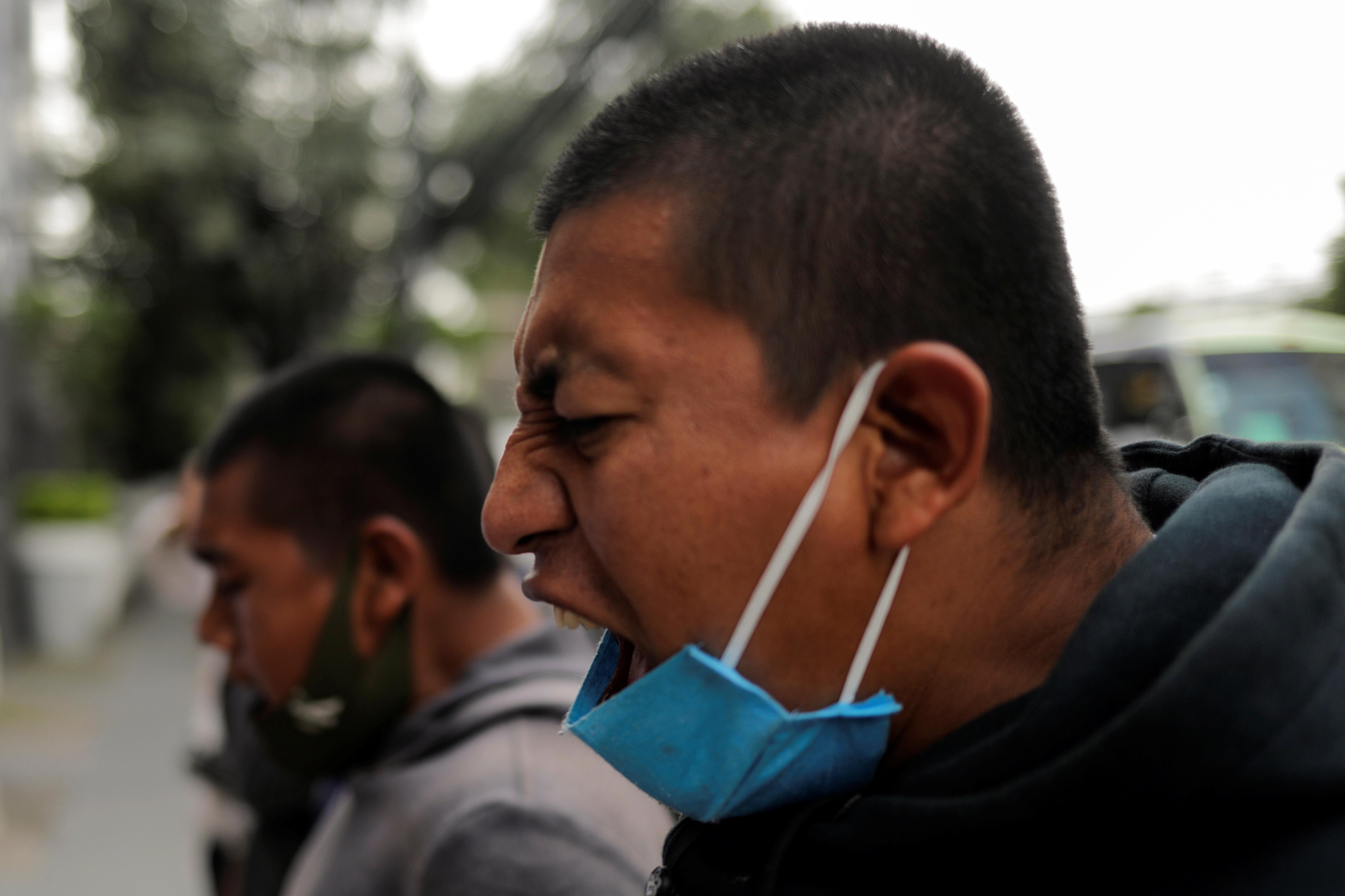 Estudiantes de la Escuela Normal Rural de Ayotzinapa en la Ciudad de México, México 23 de septiembre de 2020.