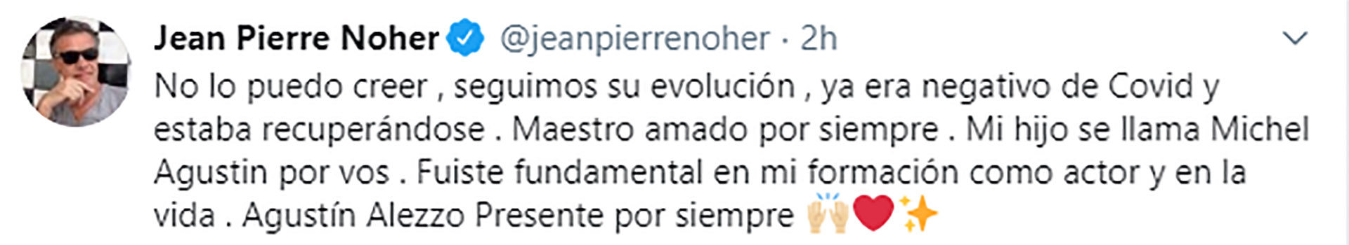 La tristeza de Jean Pierre Noher