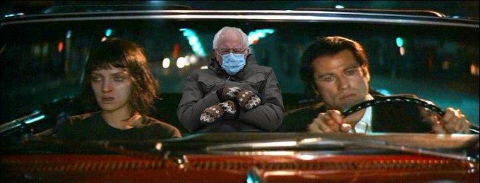 Bernie Sanders en Pulp Fiction.
