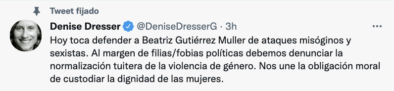 La politóloga se manifestó a favor de denunciar la violencia de género en redes sociales (Foto: Twitter@DeniseDresserG)