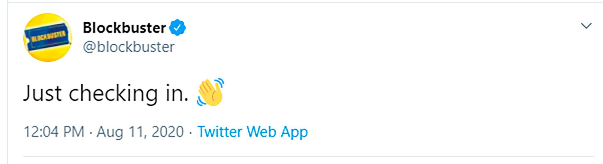 El tuit de Blockbuster que se hizo viral