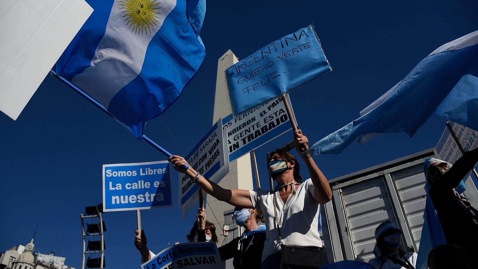Se trató de la octava manifestación en contra de la gestión de Alberto Fernández durante la cuarentena