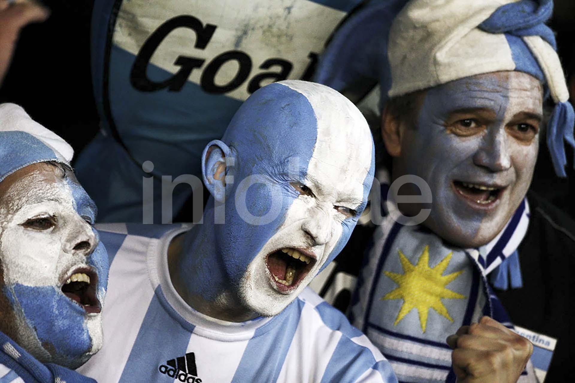 Los hinchas el aportan su color a los Mundiales y los argentinos son siempre de los más fervorosos