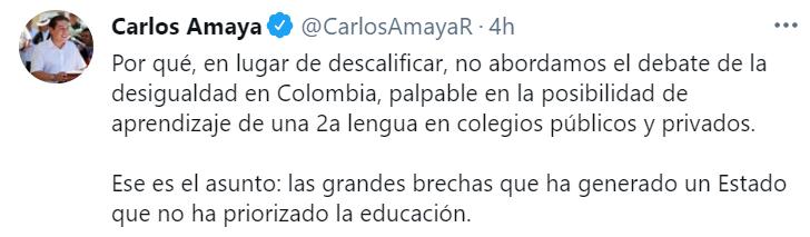 El senador Carlos Amaya respondió el titular de la revista Semana