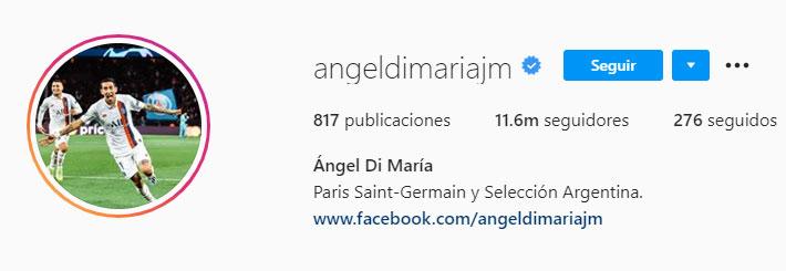 Ángel Di María (Foto: Instagram)