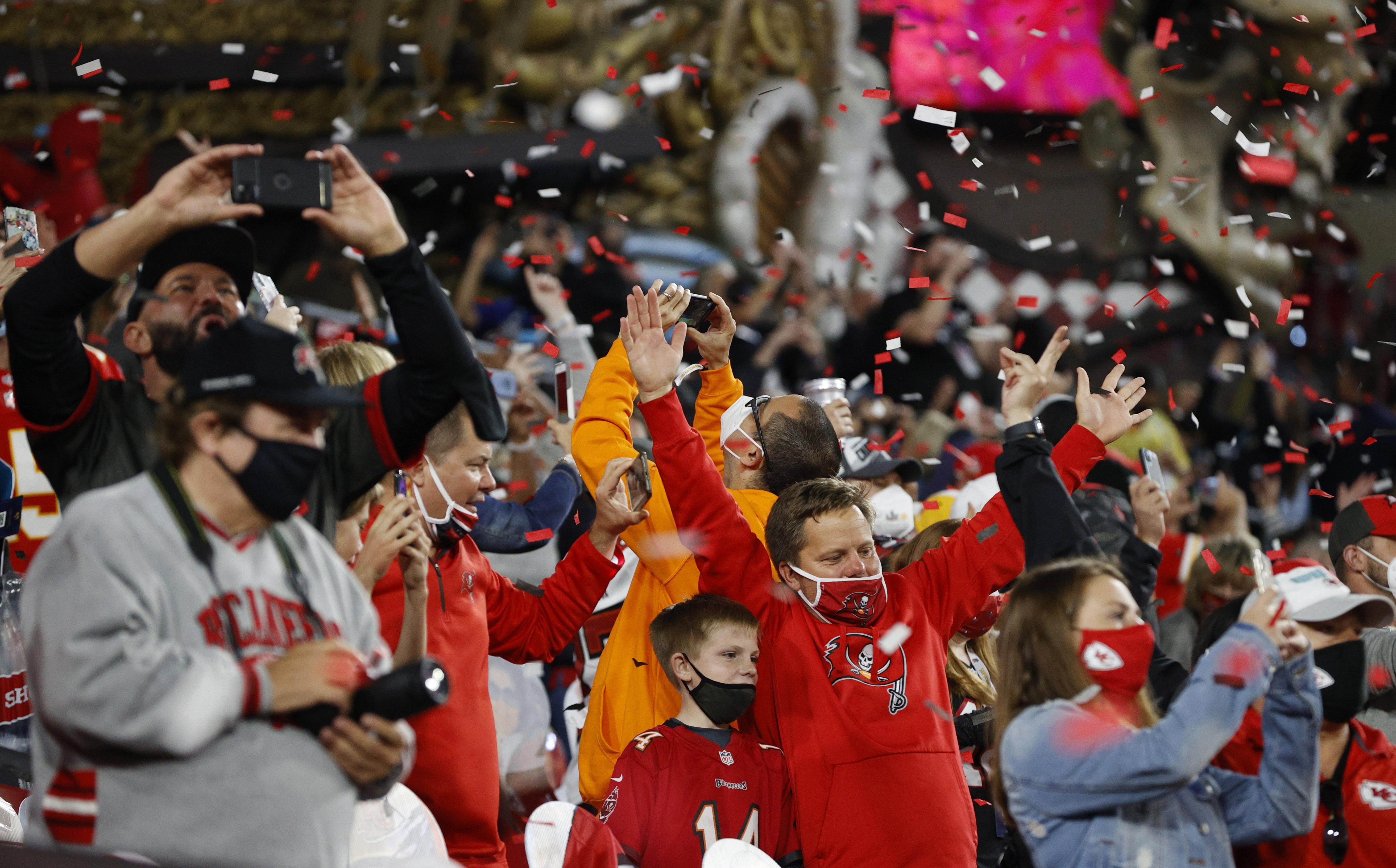 La emoción de los fans de Tampa
