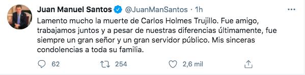 Trino de Juan Manuel Santos.