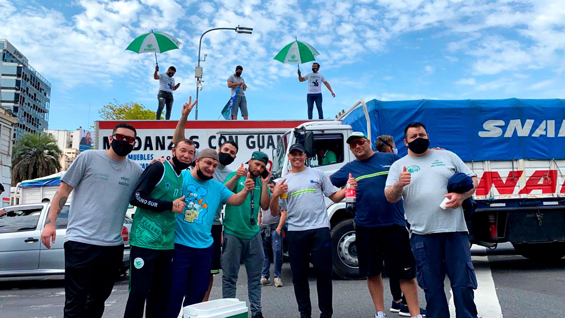 Muchos de los manifestantes no usaron barbijo ni respetaron el distanciamiento social