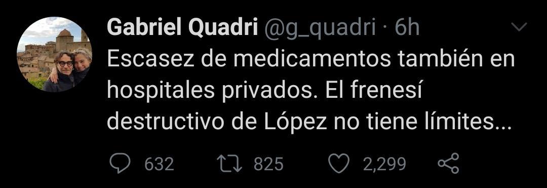 El panista criticó el desabasto de medicamentos (Foto: Twitter/ @g_quadri)