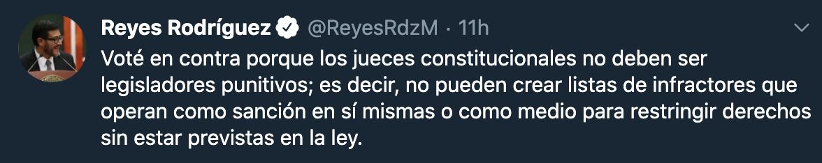 Foto: Captura de pantalla tw @ReyesRdzM ·