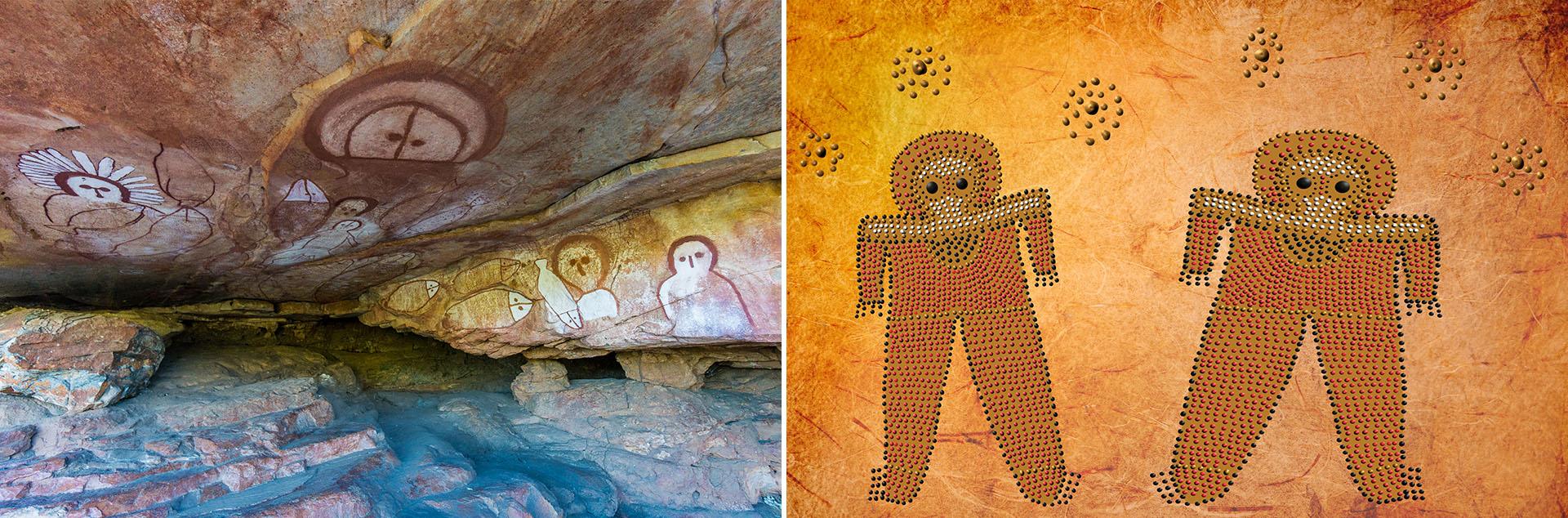 Pinturas sobre los Wandjina en Australia