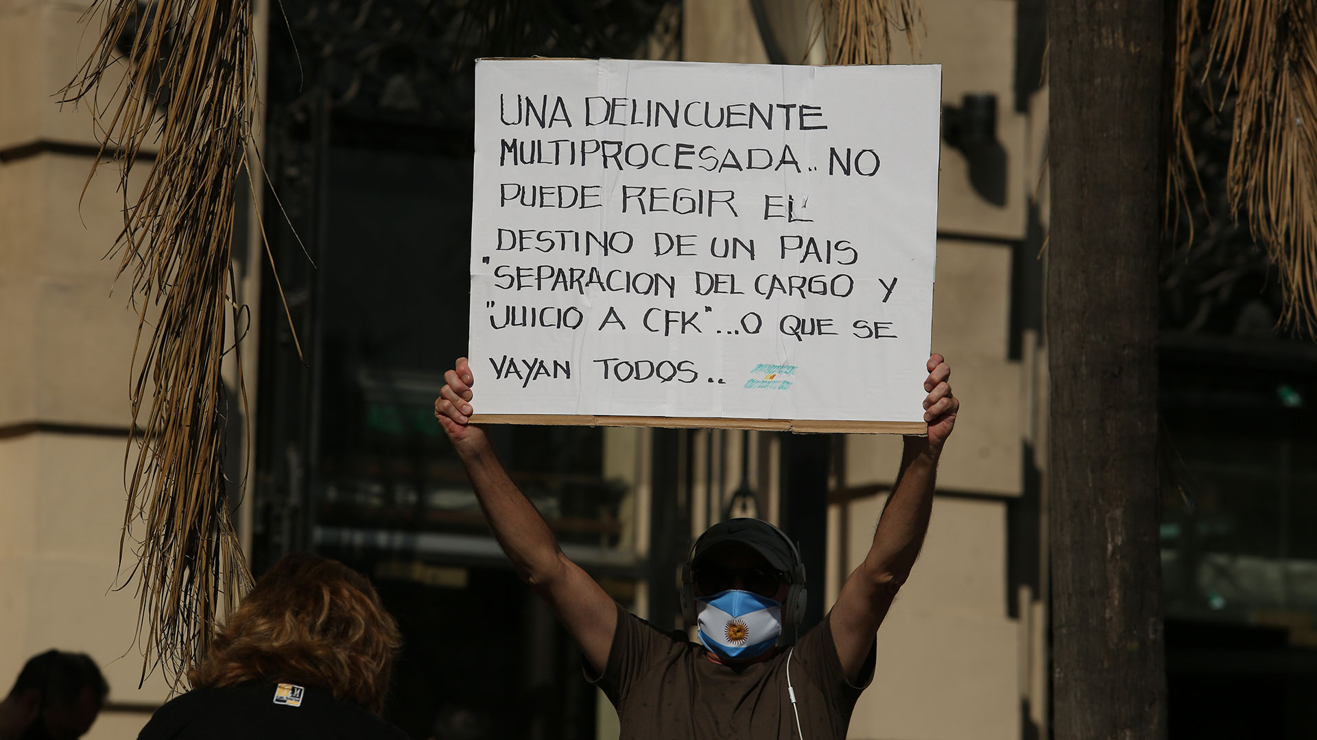 Las principales críticas de los manifestantes fueron contra Cristina Kirchner