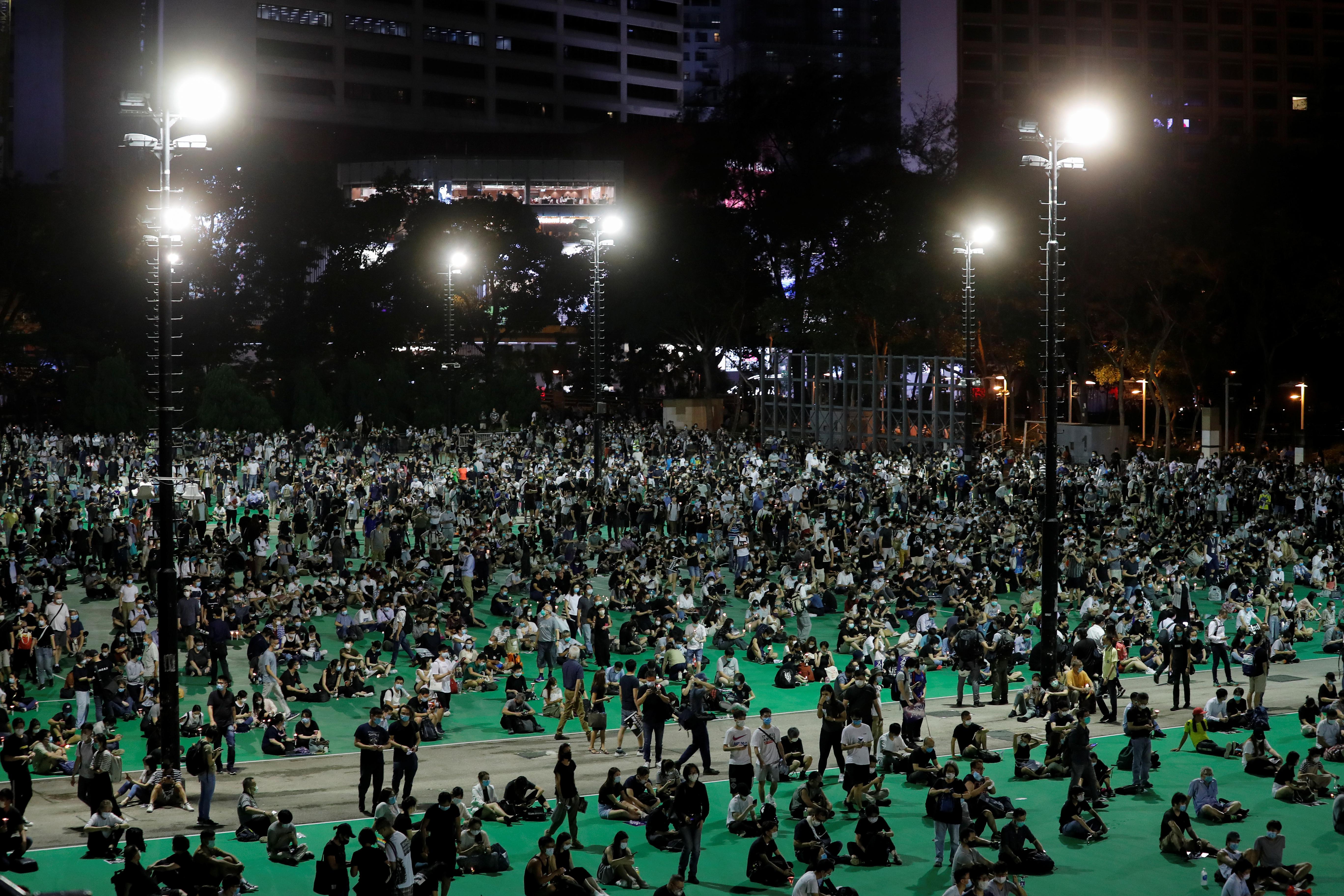 Los actos de hoy estuvieron marcados por el ambiente de tensa calma que se respira en la ciudad a raíz de la controvertida ley de seguridad para Hong Kong con la que Pekín pretende prohibir todo acto de