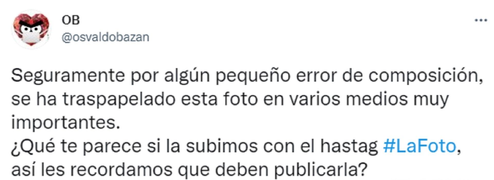 Horacio Bazán fue uno de los primeros en sumarse al hashtag #LaFoto