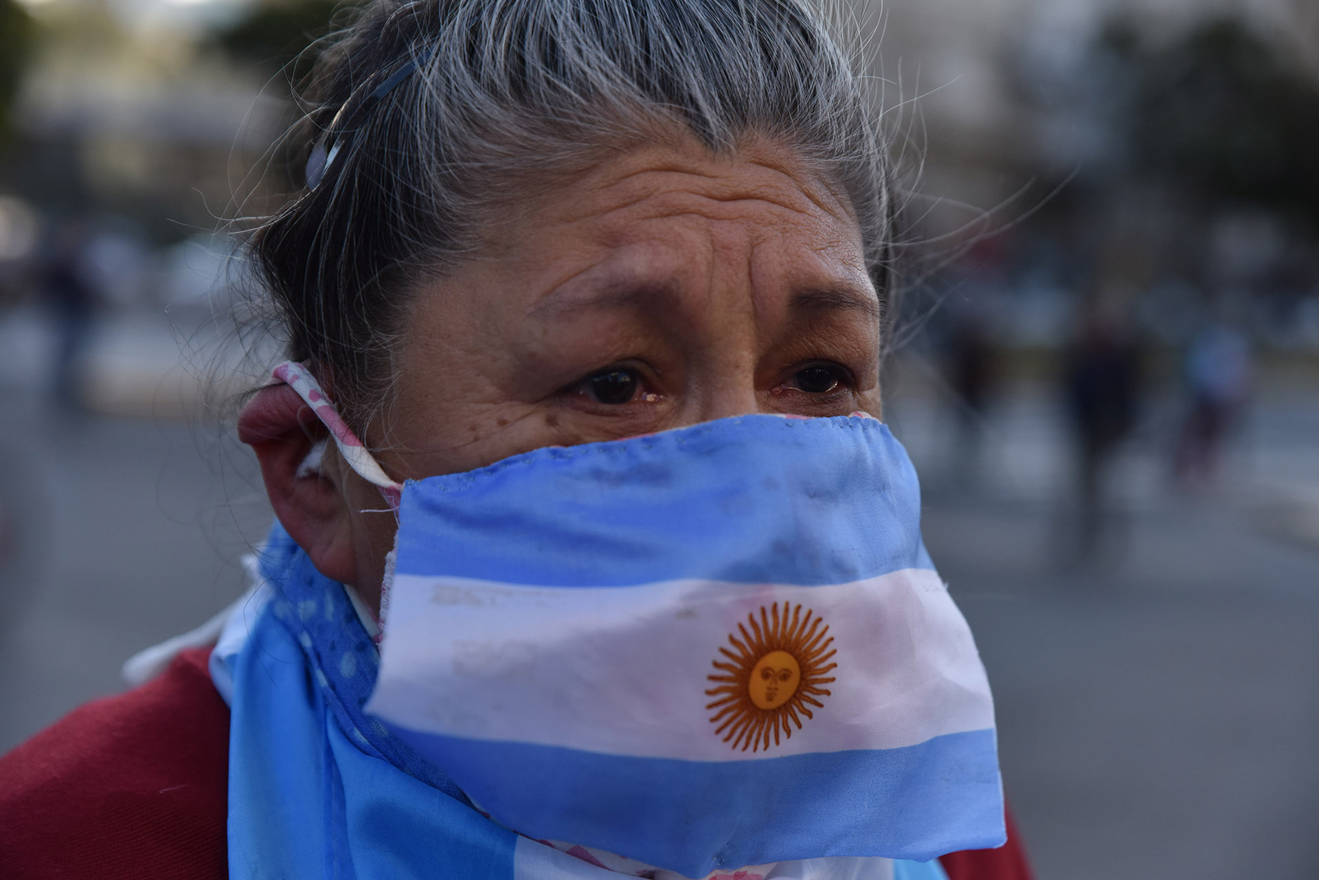 En la Capital Federal la gente salió a la calle a manifestarse pese a la cuarentena