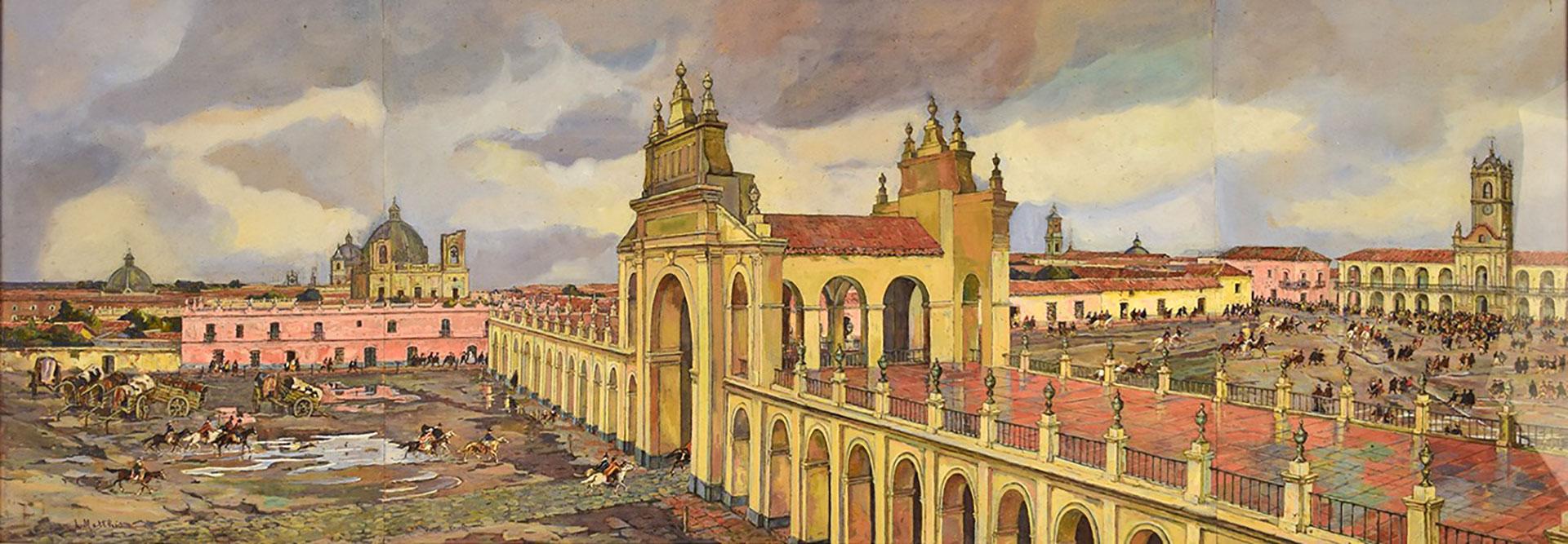 """""""25 de mayo de 1810"""", de Léonie Matthis, en el Museo Nacional del Cabildo y la Revolucion de Mayo, Buenos Aires, Argentina"""