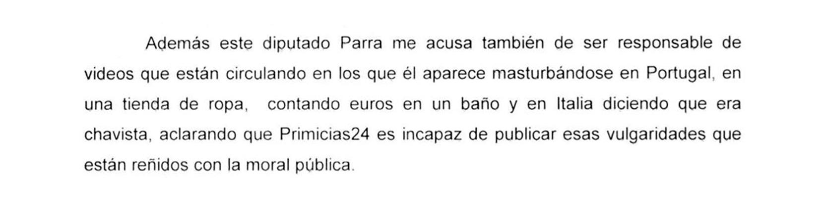 La denuncia de Carlos Herrera por las amenazas de muerte de Luis Parra