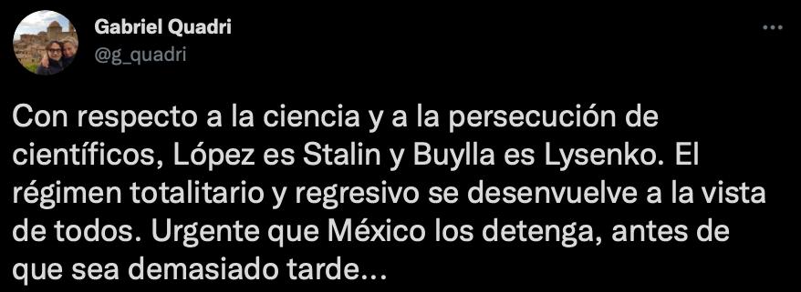 Gabriel Quadri comparó a políticos mexicanos con líderes de la URSS (Foto: Twitter/@g_quadri)