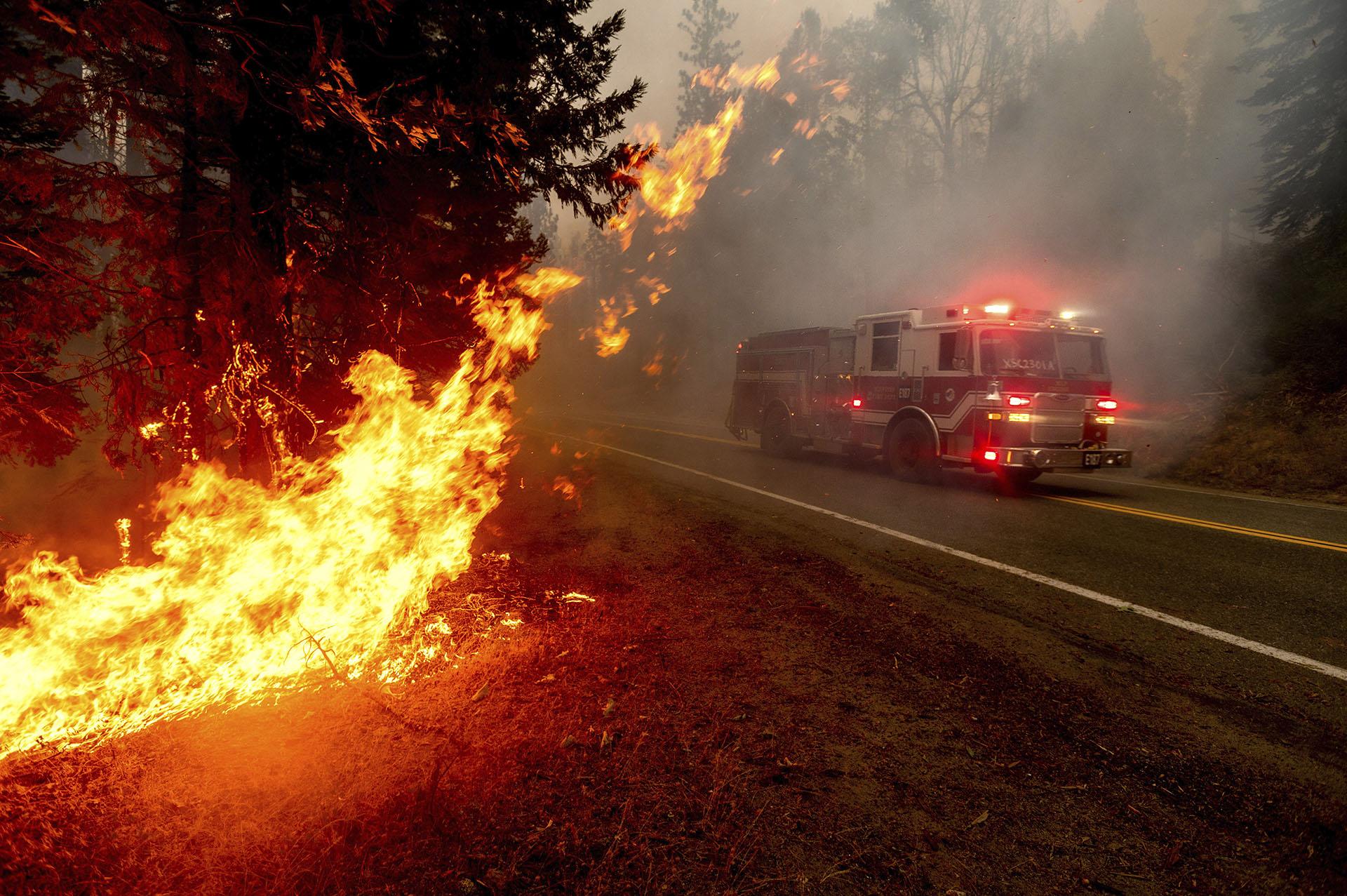 """""""En los últimos 33 años, no hemos visto un solo año sobrepasar los dos millones de acres hasta este año"""", dijo la portavoz de Cal Fire Lynne Tolmachoff. """"Esto definitivamente es récord y aún no nos hemos acercado al final de la temporada de incendios"""". (AP Photo/Noah Berger)"""