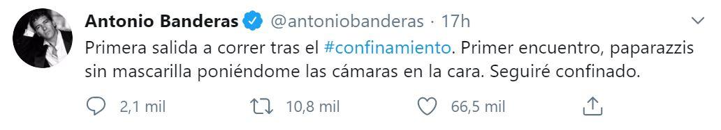El posteo de Antonio Banderas