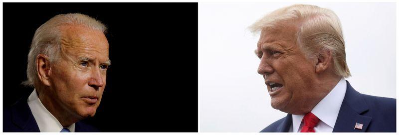 IMAGEN DE ARCHIVO.  Una combinación de fotos muestra al candidato presidencial demócrata Joe Biden y al presidente de Estados Unidos, Donald Trump.  REUTERS / Carlos Barria / Leah Millis /