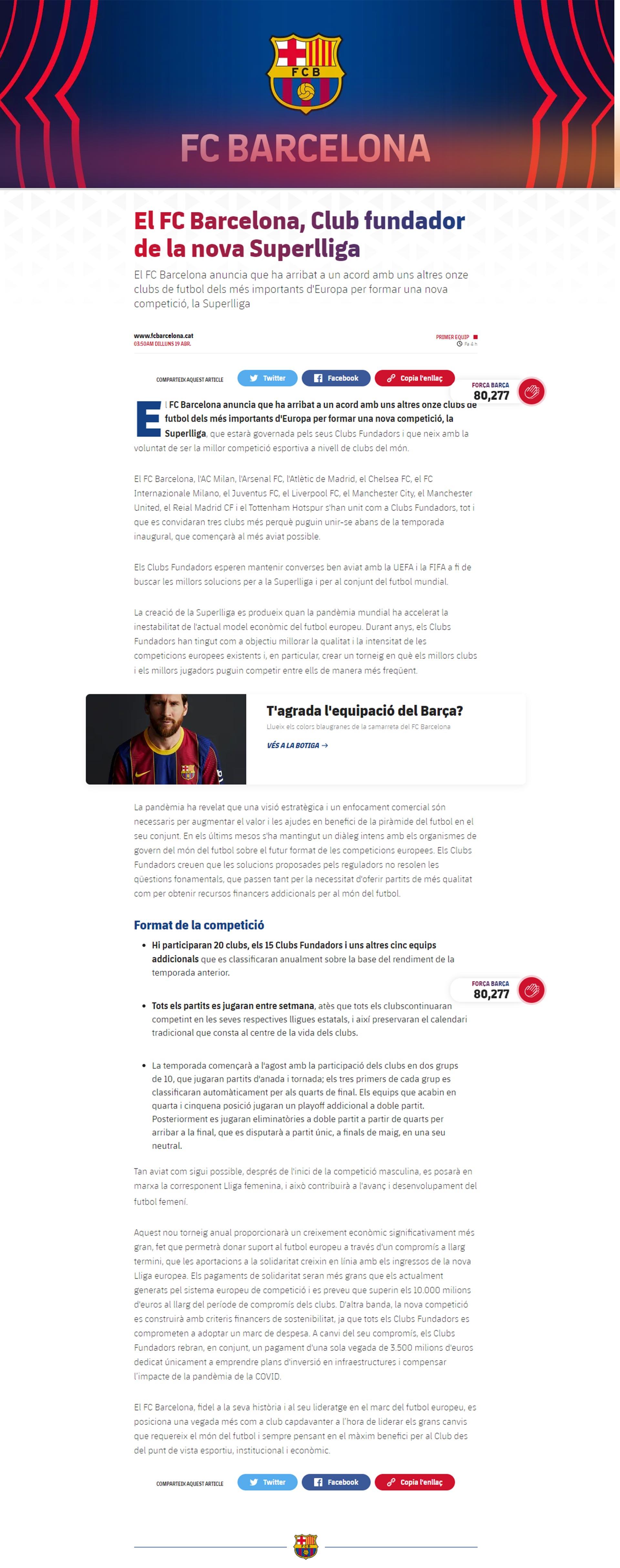 El comunicado del FC Barcelona