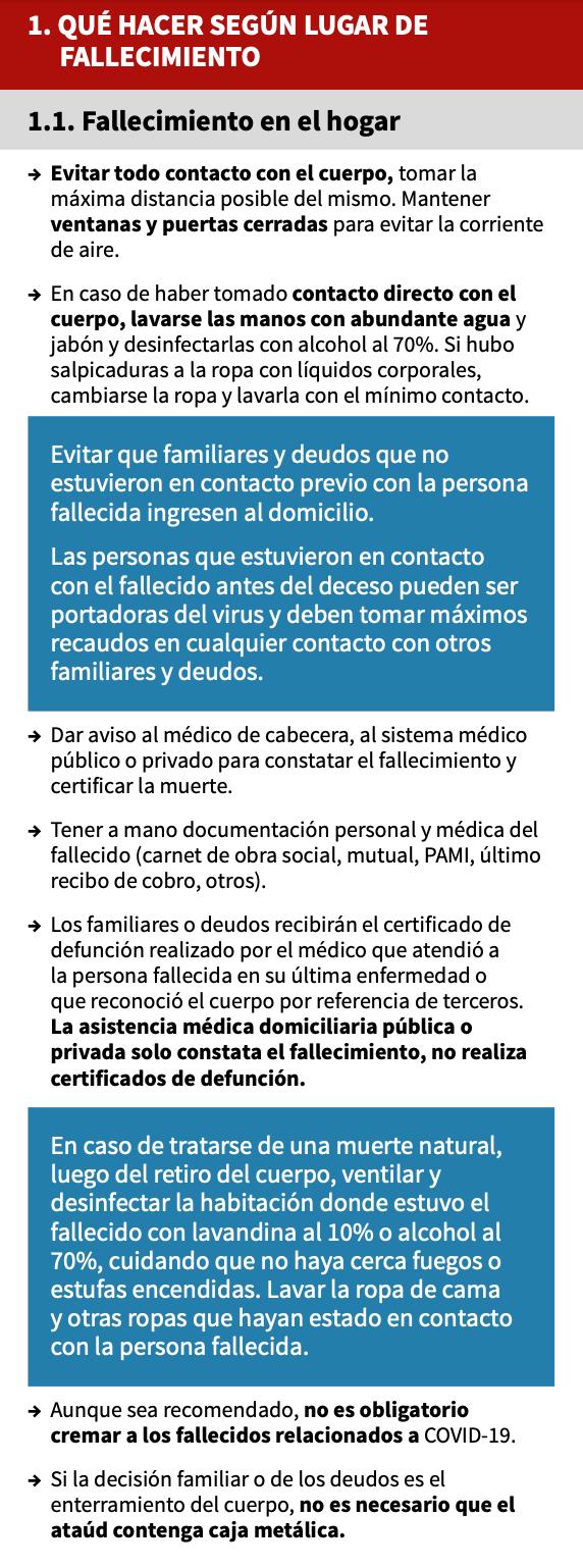 El Equipo Argentino de Antropología Forense diseñó una guía de consejos y sugerencias para el trato digno y seguro de personas que hayan muerto con confirmación o sospecha de COVID-19