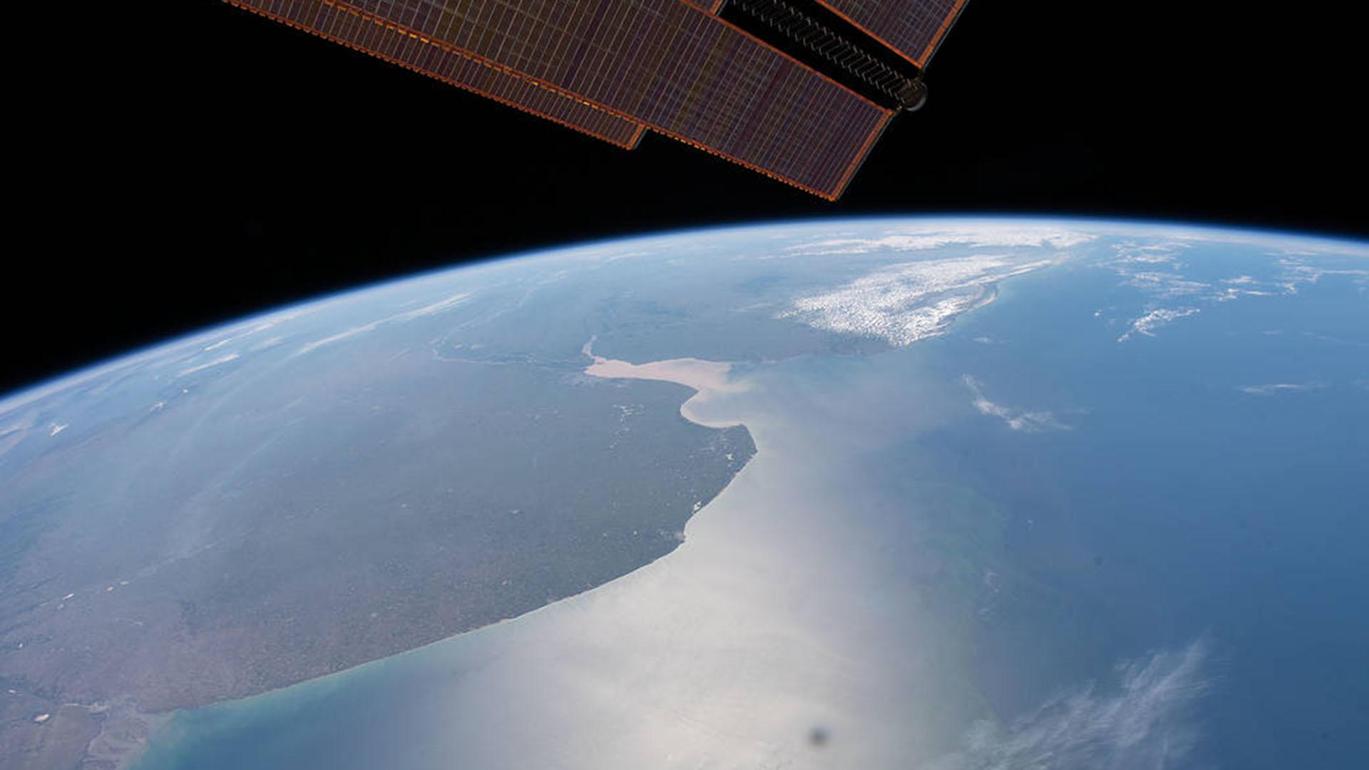 Foto de la provincia de Buenos Aires sacada desde el espacio exterior