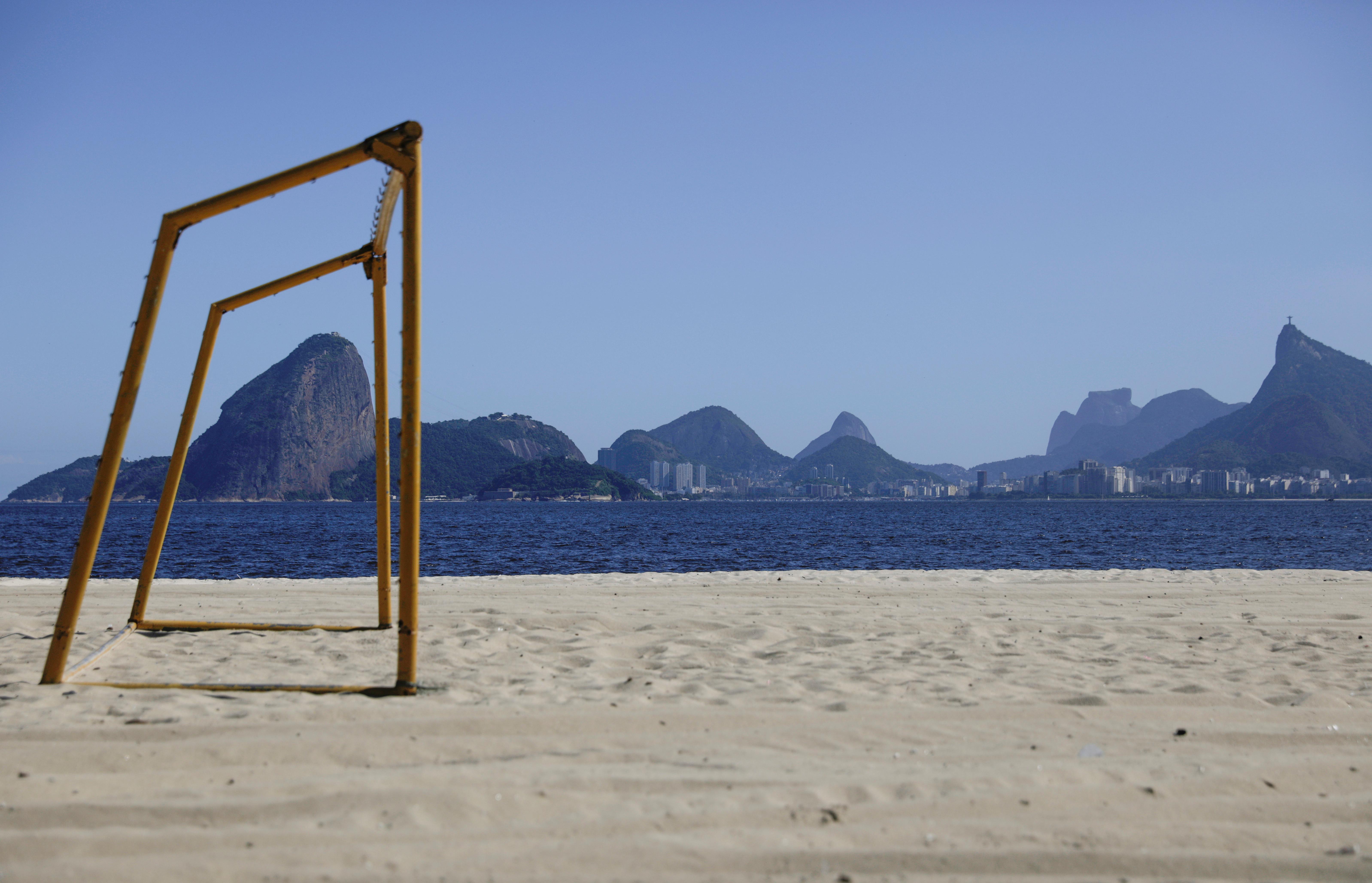 Las playas de Río de Janeiro, sorprendentemente vacías (REUTERS/Ricardo Moraes)