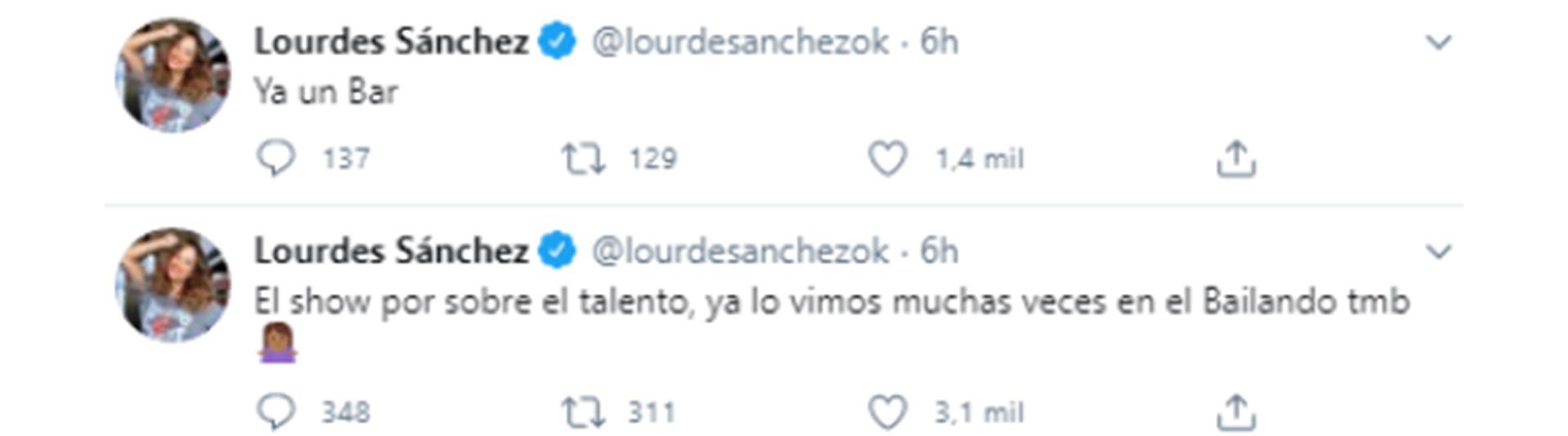 Lourdes Sánchez contra Esmeralda Mitre (Foto: Twitter)