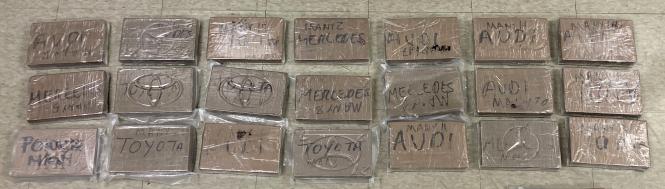 Los 21 kilogramos de carfentanilo secuestrado en Riverside California (Fiscaslía General Riverside)