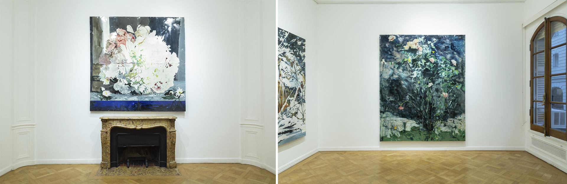 """""""Ramo"""" (200 × 200 cm) y """"Rosas Balcarceñas"""" (250 × 200 cm)"""