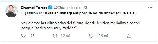 Chumel Torres su burló de usuarios de Instagram (Foto: Twitter)