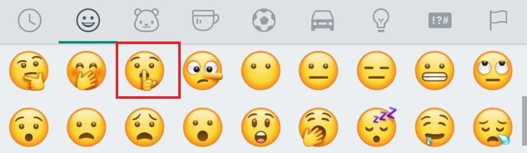 El emoji hace referencia a guardar el secreto del mensaje
