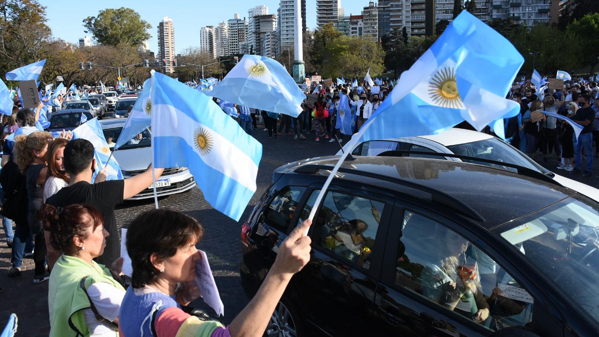Rosario suele ser uno de los puntos donde más gente se concentra en las protestas contra el gobierno nacional
