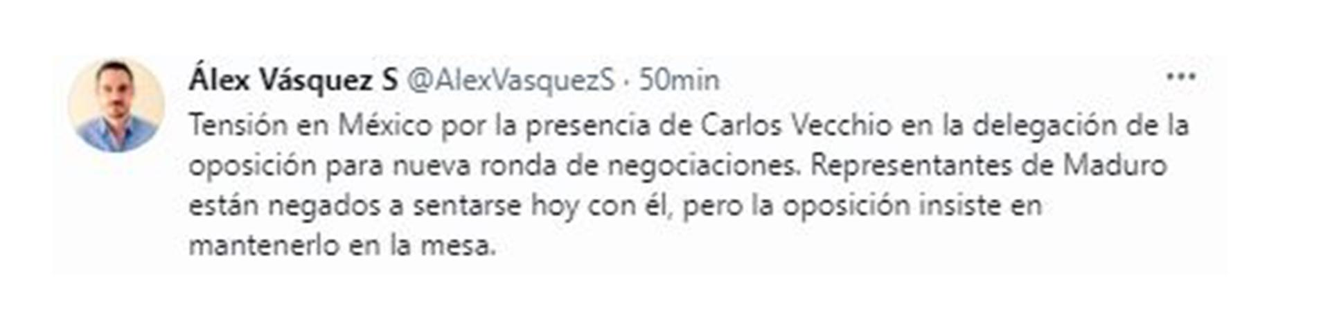 Tweet by Alex Vasquez