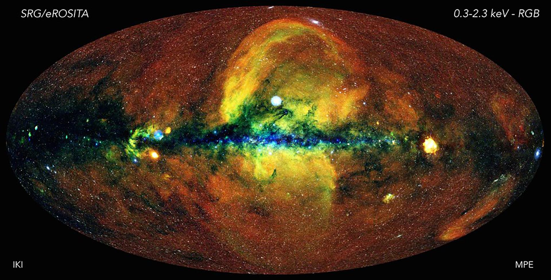 El universo energético visto con el telescopio de rayos X eROSITA (MPE/IKI)