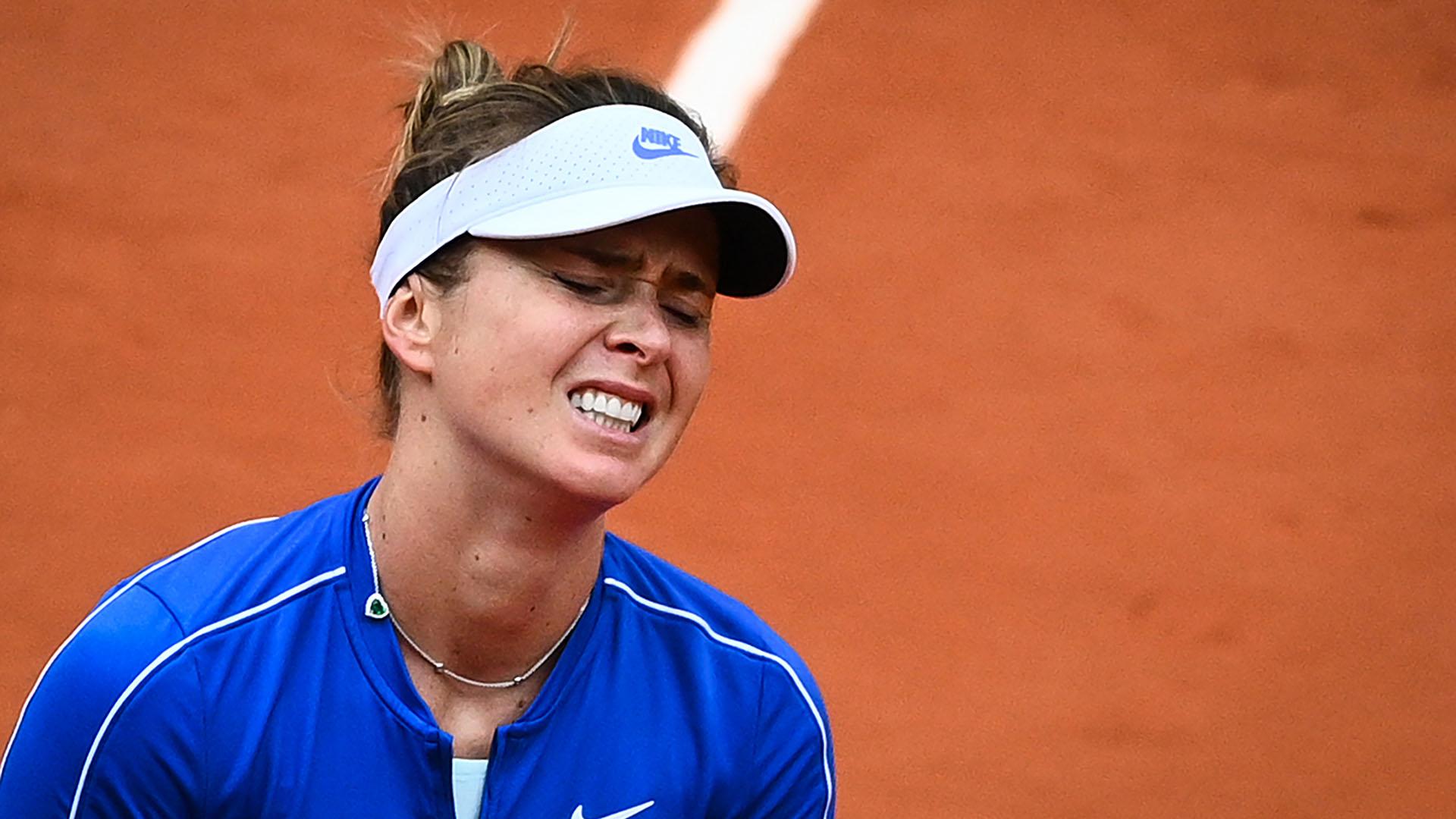 Elina Svitolina había quedado como la preclasificada número 1 por las bajas de las dos primeras pero cayó en cuartos de final (Photo by Anne-Christine POUJOULAT / AFP)