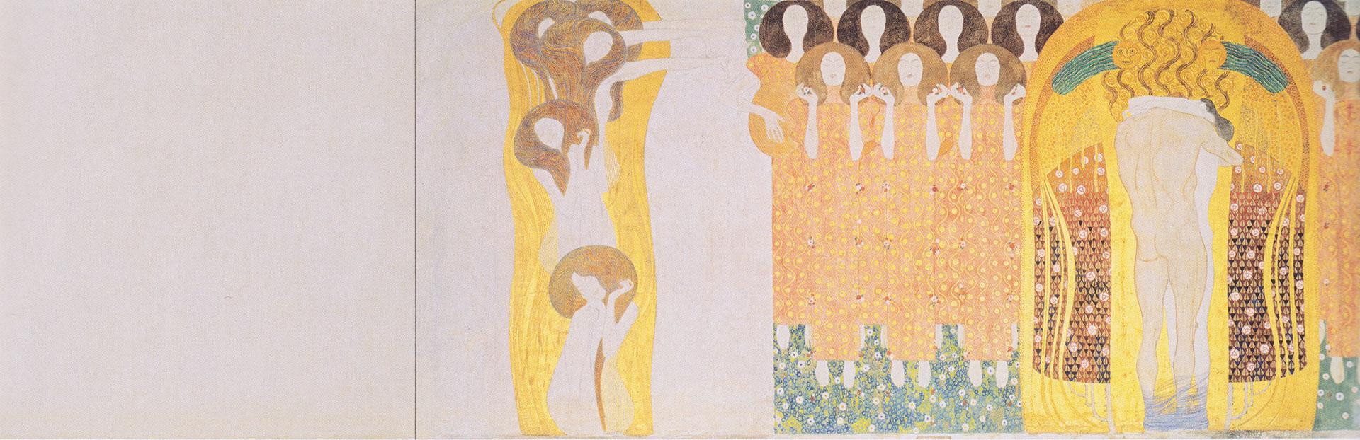 Recorte del Friso de Beethoven, el mural que Gustav Klimt pintó en Viena en 1902