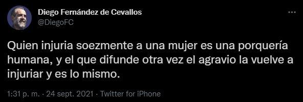 Otro opositor a la actual administración que se pronunció por el tuit repleto de insultos en contra la académica fue Diego Fernández de Cevallos (Foto: Twitter/@DiegoFC)