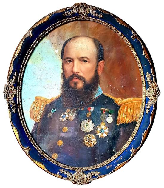 Retrato del general Cámara. Colección Sacha Cardona.