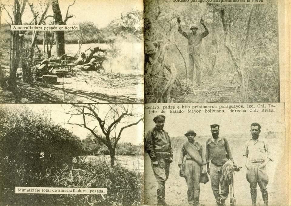 Soldados bolivianos con prisiones paraguayos. Esta imagen fue cedida por la nieta de un militar boliviano, quien sobrevivió a la Guerra del Chaco. Foto: Gentileza.