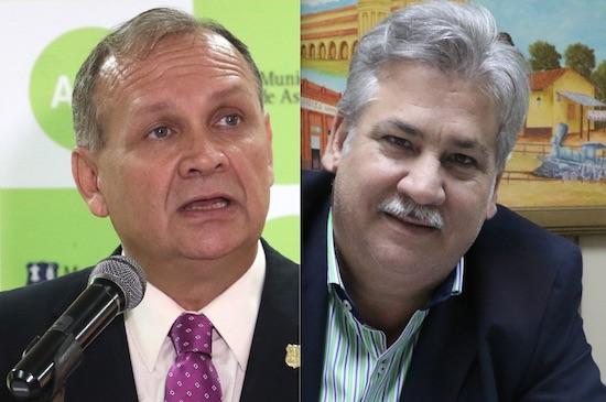 El concejal Orlando Fiorotto (derecha) lamentó que la Junta Municipal de Asunción haya aprobado gestión del exintendente Mario Ferreiro (izquierda). Foto: Archivo.