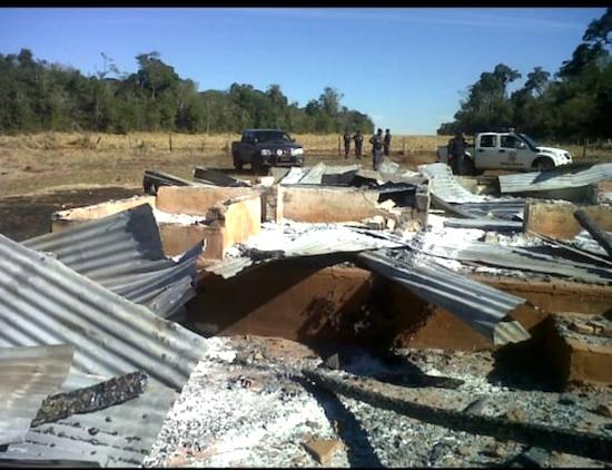 Los ocupantes causaron numerosos destrozos en la Agroganadera Pindó.FOTO:GENTILEZA