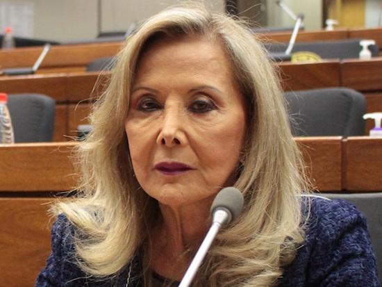 Mirta Gusinky, senadora de la ANR. Foto: Archivo.