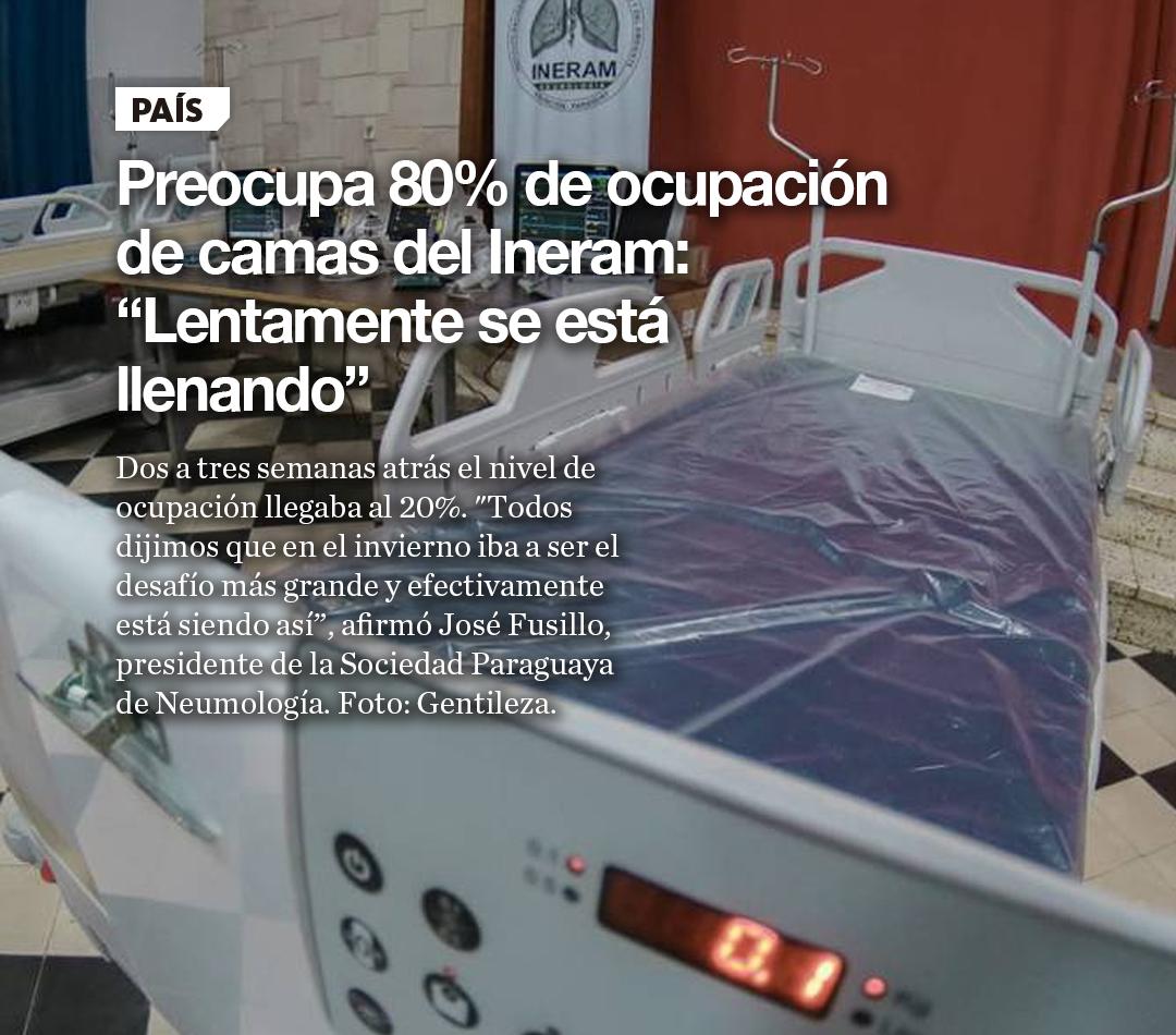 """Preocupa 80% de ocupación de camas del Ineram: """"Lentamente se está llenando"""""""